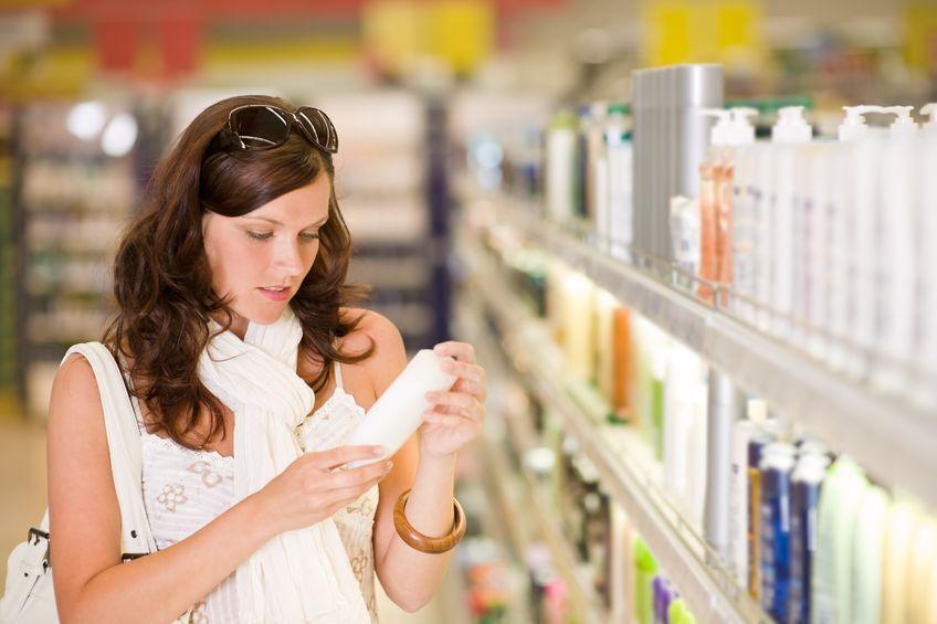 Woman shopping cosmetics